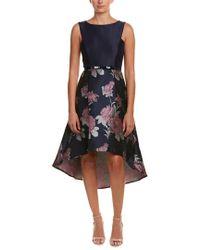 Donna Ricco Blue A-line Dress
