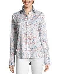 Robert Graham White Priscilla Shirt