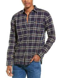 Joules Brown Buchannan Classic Fit Woven Shirt for men