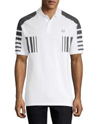 Fred Perry White Colorblocked Polo Shirt for men