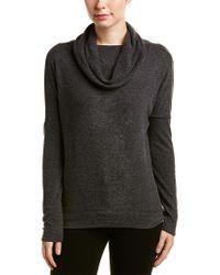 Chaser Gray Drape Sweater