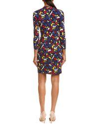 Anne Klein Multicolor Faux Wrap Dress