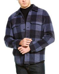 Vince Blue Wool-blend Overshirt for men