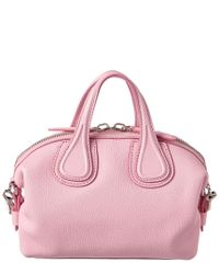Givenchy Pink Micro Nightingale Leather Satchel