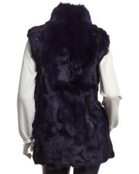 Adrienne Landau Blue Textured Goma Vest