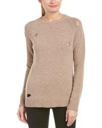 Anine Bing Brown Anine Bing Distressed Wool-blend Sweater