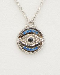Judith Ripka - Metallic Silver 0.18 Ct. Tw. Gemstone Double Strand Necklace - Lyst