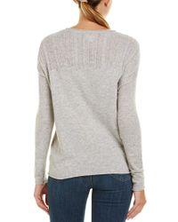 Velvet By Graham & Spencer Gray Crew Sweater