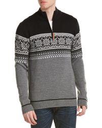 Obermeyer - Gray Bryce 1/4-zip Wool Sweater for Men - Lyst