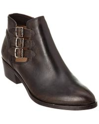 Frye Black Ray Belted Leather Bootie