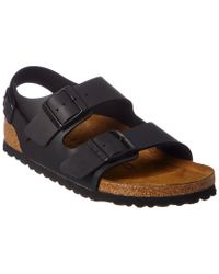 Birkenstock Black Milano - Leather Soft Footbed (unisex)