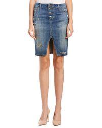 Joe's Jeans - Blue Jesenia Button Up Pencil Skirt - Lyst