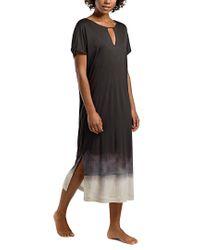 Hanro Black Gown