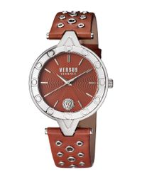 Versace Black Women's V Versus Eyelet Watch