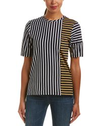10 Crosby Derek Lam Blue Denim Colorblocked T-shirt