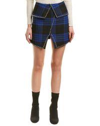 Haute Rogue Blue Stacey Studded Skirt