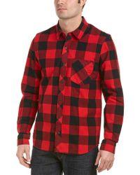 Hudson Red Weston Woven Shirt for men