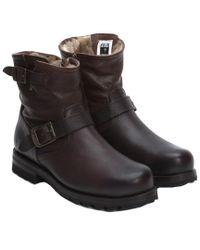 Frye - Black Men's Warren Leather Engineer Boot for Men - Lyst