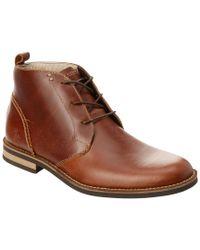 Original Penguin Brown Monty Leather Chukka Boot for men