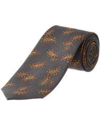 Dolce & Gabbana Blue Paisley Silk Tie for men