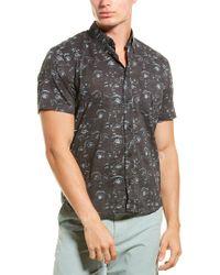 Billy Reid Black Kirby Slim Fit Woven Shirt for men