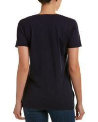 Caleigh & Clover Blue Violet V-neck T-shirt