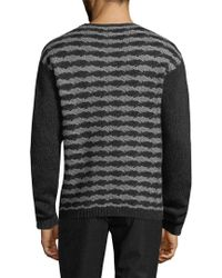 John Varvatos Gray . Wool-cashmere Sweater for men