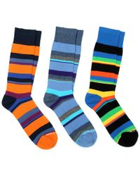 Unsimply Stitched Blue Pack Of 3 Socks for men