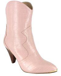 Nanette Lepore Pink Sage Bootie