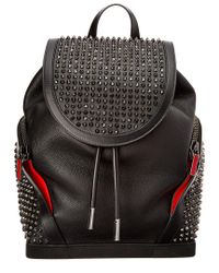 Christian Louboutin - Black Explorafunk Leather Backpack - Lyst