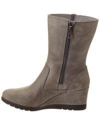 Ugg Gray Women's Joely Waterproof Leather Wedge Boot