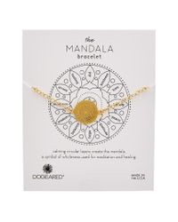 Dogeared Metallic Mandala Collection 14k Over Silver Bracelet