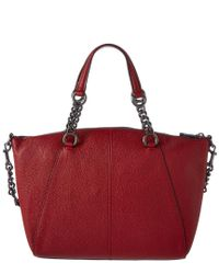 COACH Red Prairie Leather Chain Satchel