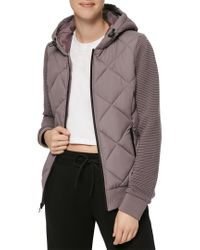 Marc New York Multicolor Mixed Media Puffer Jacket
