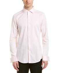 Reiss Pink Detroller Slim Fit Woven Shirt for men