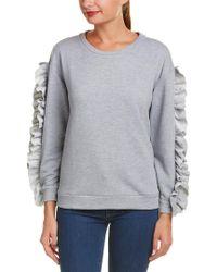Alythea Gray Ruffled Sweatshirt
