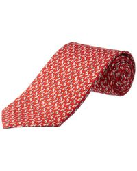 Ferragamo Red Dog Silk Tie for men
