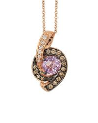 Le Vian - ® Chocolatier® 14k Rose Gold 1.01 Ct. Tw. Diamond & Pink Amethyst Necklace - Lyst