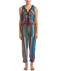 Tolani Black Blake Silk Jumpsuit