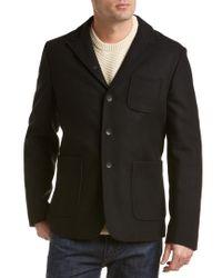 Rag & Bone - Black St. Regis Wool-blend Jacket for Men - Lyst