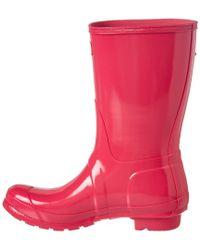 Hunter Pink Women's Original Short Gloss Boot