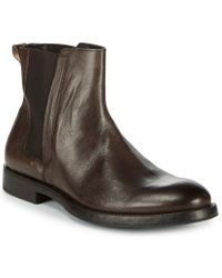 Bacco Bucci Brown Ederson Leather Chelsea Boots for men