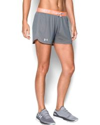 Under Armour - Gray Women's Play Up Mesh Short - Lyst
