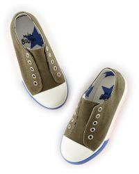 Boden Multicolor Laceless Canvas Shoes