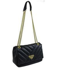 Ellen Tracy Black Quilted Shoulder Bag