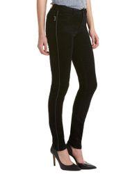 Zadig & Voltaire Blue Eva Velours Encore Leather-trim Corduroy Skinny Leg
