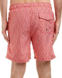 Ike Behar Red Ike By Swim Trunk for men