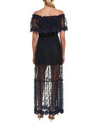 Adelyn Rae Blue Maxi Dress