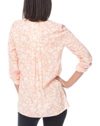 Bobeau - Pink Cristy Pleat Back Blouse - Lyst