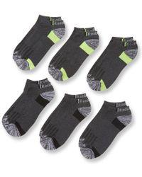 Reebok - Gray Knit Low Cut Socks (6 Pack) for Men - Lyst